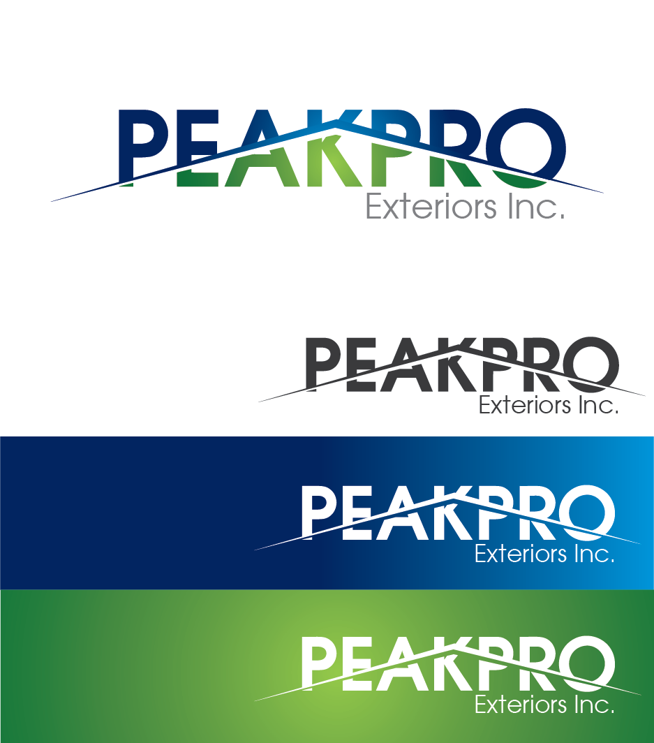 Logo Design by Private User - Entry No. 19 in the Logo Design Contest Captivating Logo Design for Peakpro Exteriors Inc..