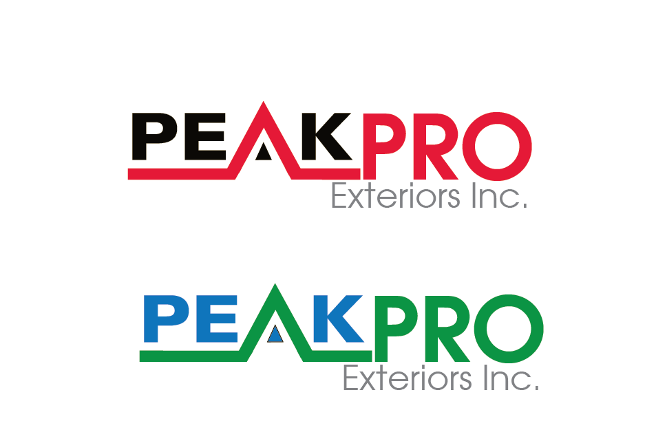 Logo Design by Private User - Entry No. 20 in the Logo Design Contest Captivating Logo Design for Peakpro Exteriors Inc..