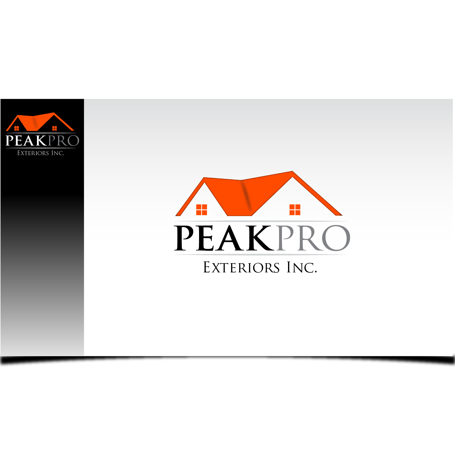 Logo Design by Robert Engi - Entry No. 23 in the Logo Design Contest Captivating Logo Design for Peakpro Exteriors Inc..