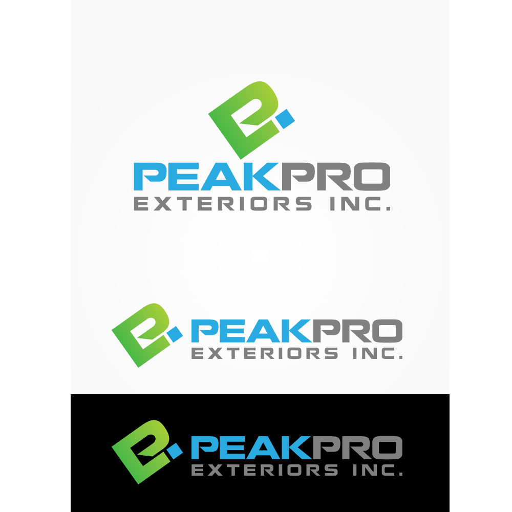 Logo Design by rockin - Entry No. 25 in the Logo Design Contest Captivating Logo Design for Peakpro Exteriors Inc..