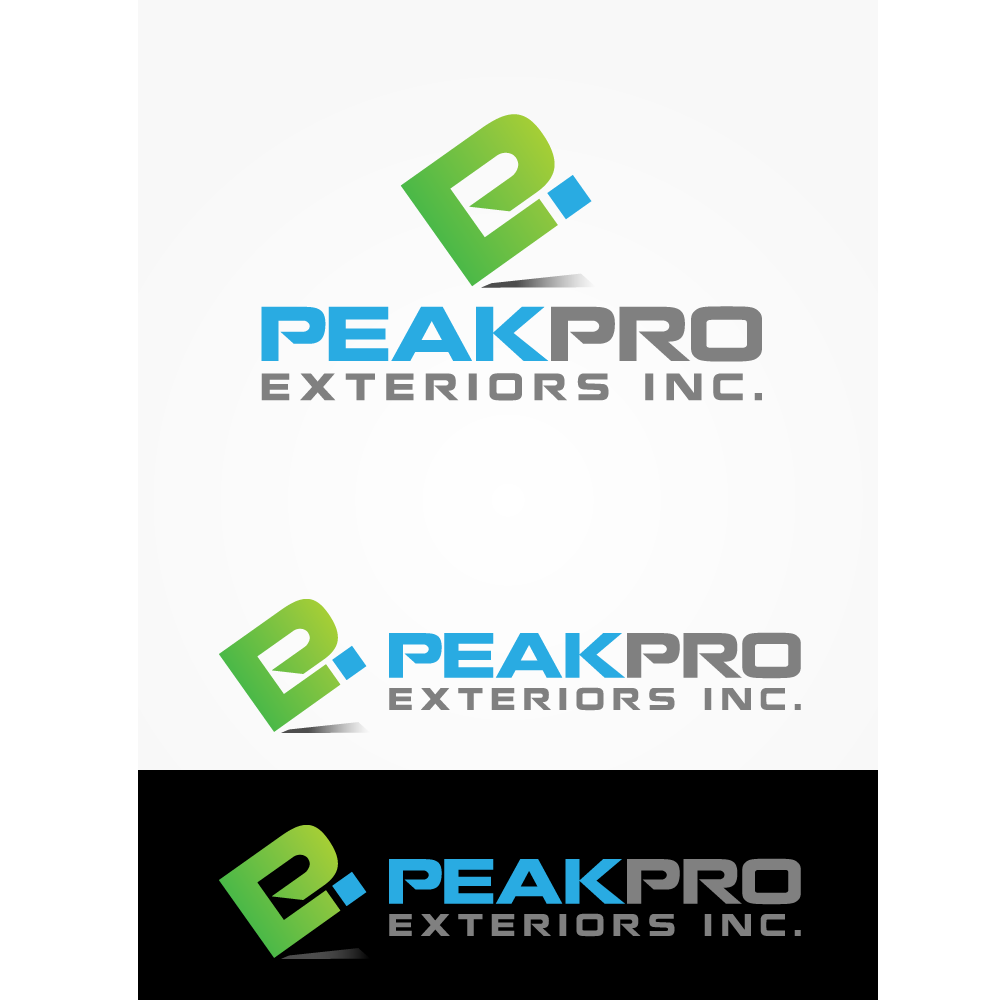 Logo Design by rockin - Entry No. 26 in the Logo Design Contest Captivating Logo Design for Peakpro Exteriors Inc..