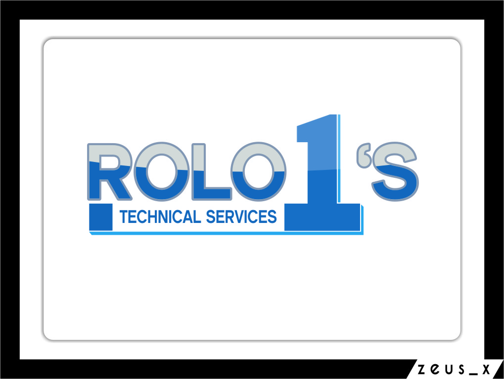 Logo Design by RasYa Muhammad Athaya - Entry No. 9 in the Logo Design Contest Inspiring Logo Design for Rolo1's Technical Services.