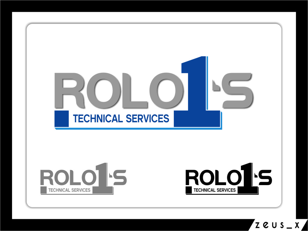 Logo Design by RasYa Muhammad Athaya - Entry No. 12 in the Logo Design Contest Inspiring Logo Design for Rolo1's Technical Services.