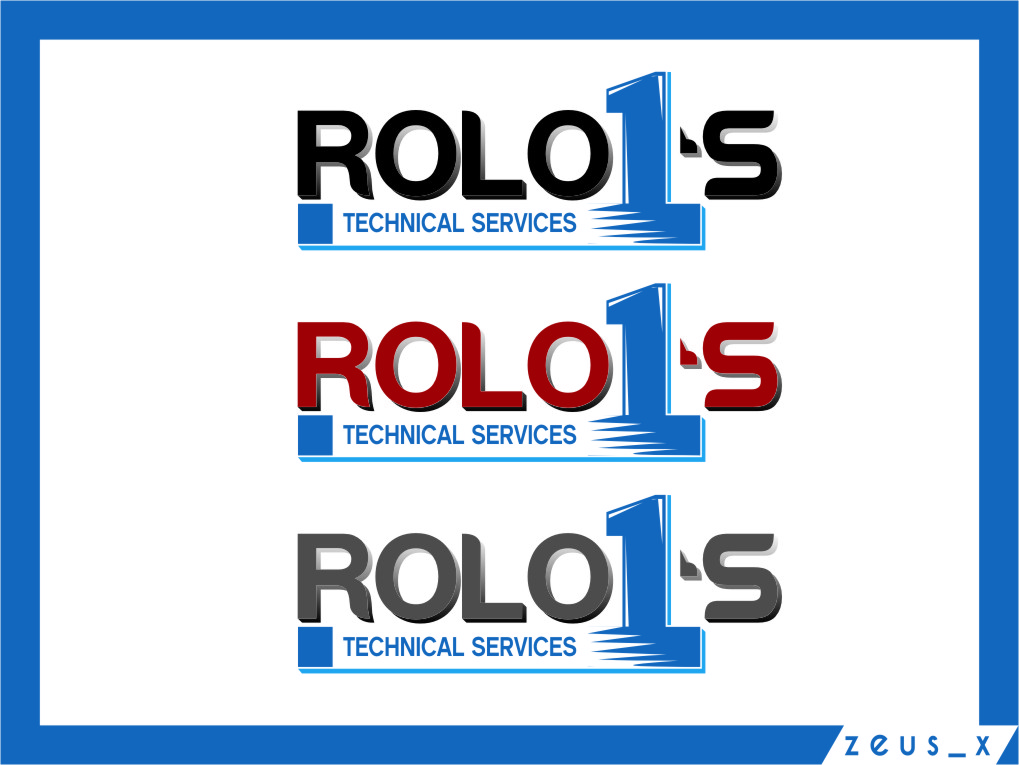 Logo Design by RasYa Muhammad Athaya - Entry No. 13 in the Logo Design Contest Inspiring Logo Design for Rolo1's Technical Services.