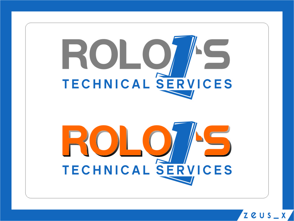 Logo Design by RasYa Muhammad Athaya - Entry No. 14 in the Logo Design Contest Inspiring Logo Design for Rolo1's Technical Services.