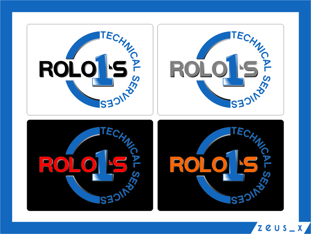 Logo Design by RasYa Muhammad Athaya - Entry No. 15 in the Logo Design Contest Inspiring Logo Design for Rolo1's Technical Services.