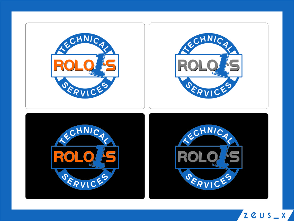 Logo Design by RasYa Muhammad Athaya - Entry No. 17 in the Logo Design Contest Inspiring Logo Design for Rolo1's Technical Services.