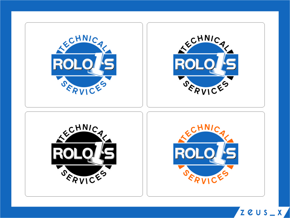 Logo Design by RasYa Muhammad Athaya - Entry No. 18 in the Logo Design Contest Inspiring Logo Design for Rolo1's Technical Services.