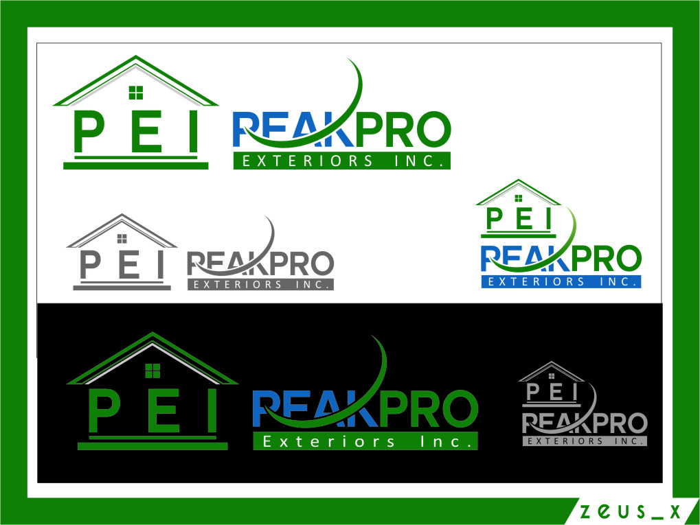 Logo Design by RasYa Muhammad Athaya - Entry No. 28 in the Logo Design Contest Captivating Logo Design for Peakpro Exteriors Inc..