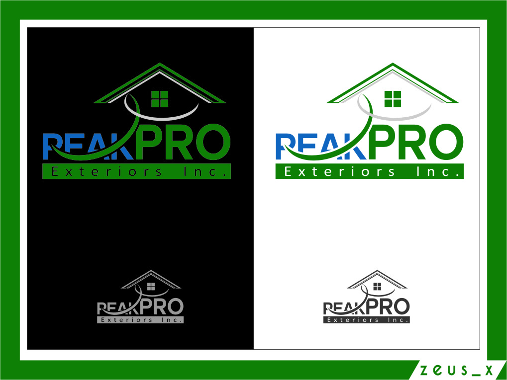 Logo Design by RasYa Muhammad Athaya - Entry No. 29 in the Logo Design Contest Captivating Logo Design for Peakpro Exteriors Inc..