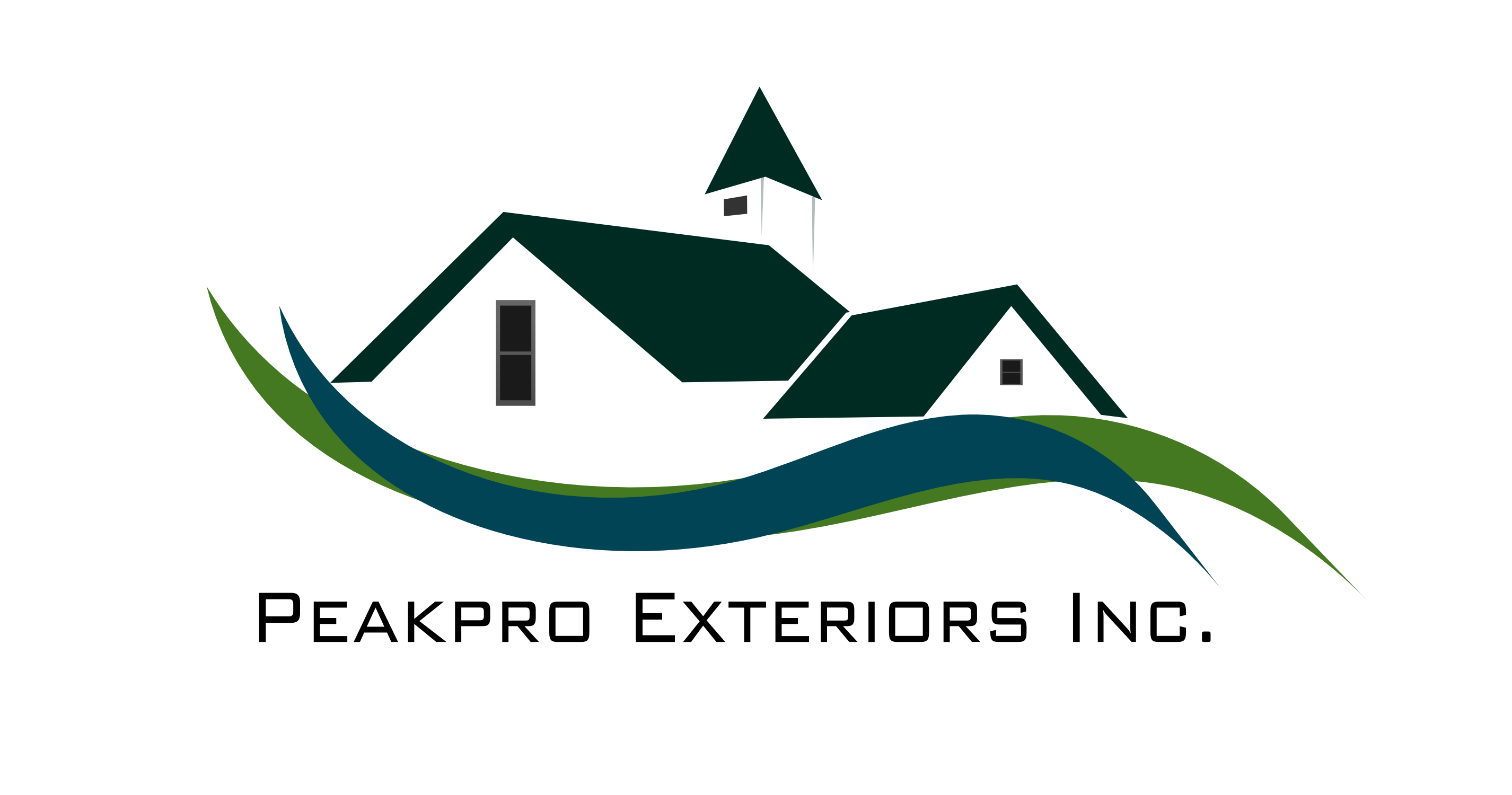 Logo Design by Arindam Khanda - Entry No. 31 in the Logo Design Contest Captivating Logo Design for Peakpro Exteriors Inc..