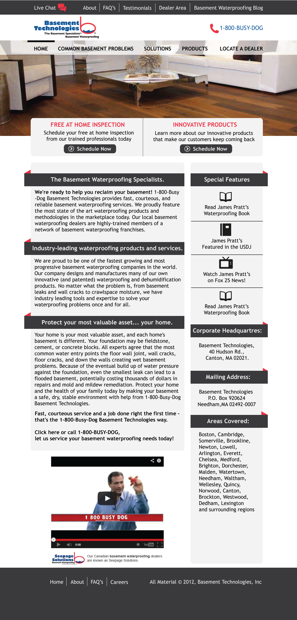 Web Page Design by Mohan Kumar - Entry No. 19 in the Web Page Design Contest Modern Web Page Design for Basement Technologies.