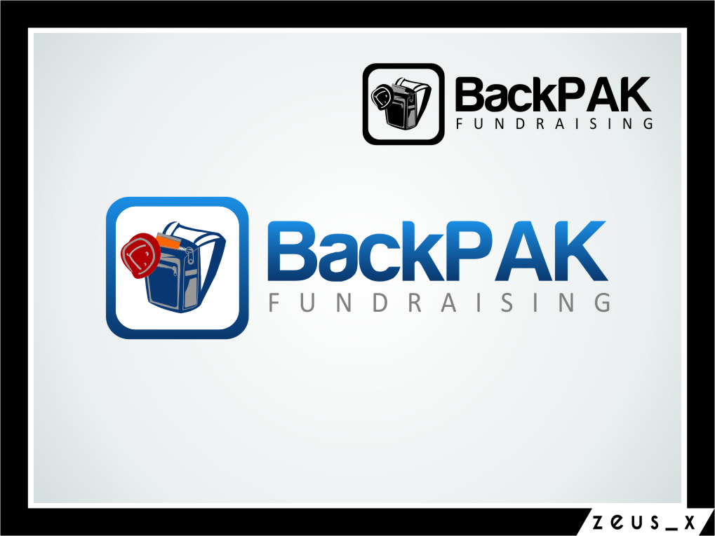 Logo Design by RasYa Muhammad Athaya - Entry No. 16 in the Logo Design Contest Imaginative Logo Design for BackPAC Fundraising.