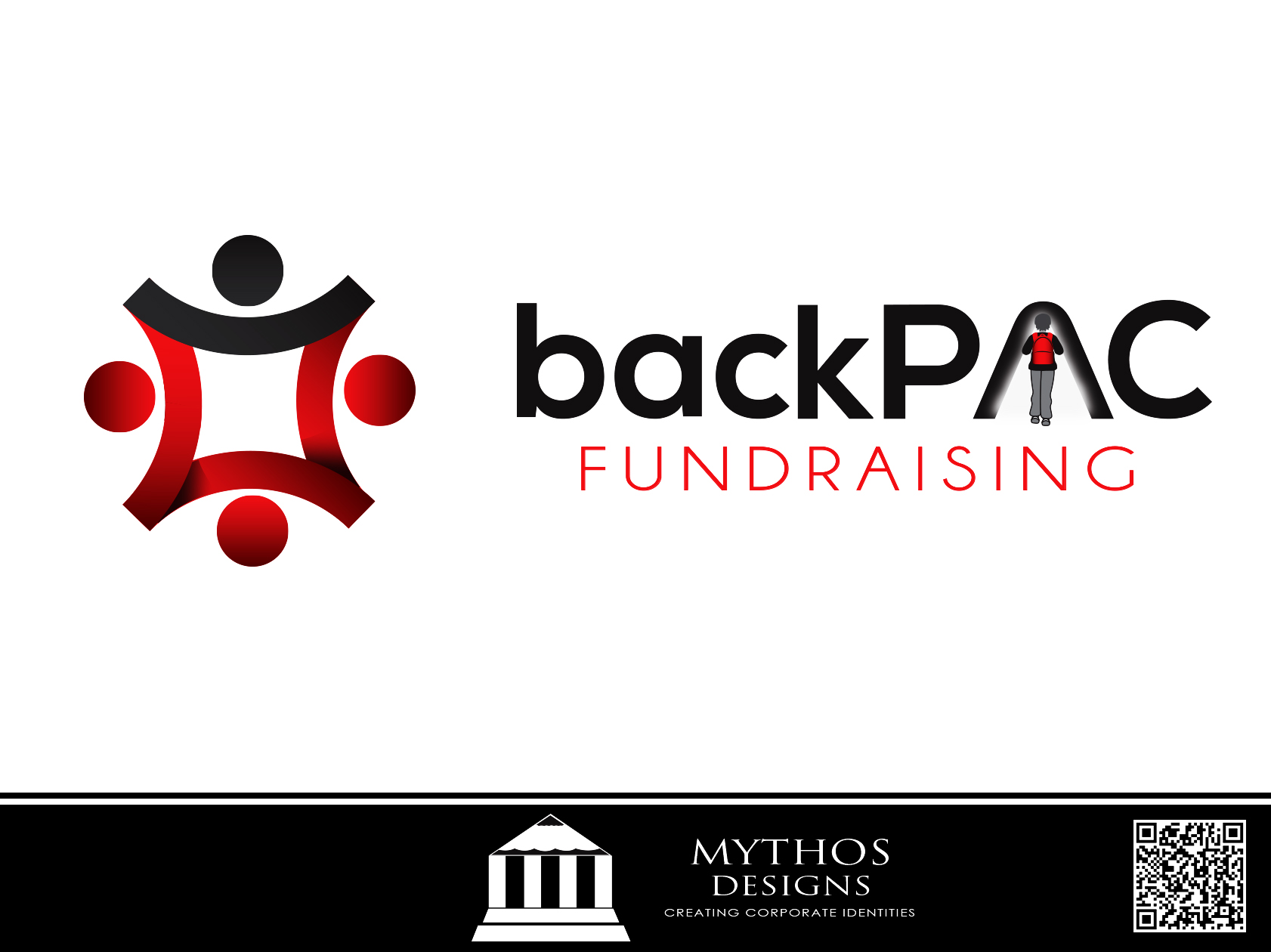 Logo Design by Mythos Designs - Entry No. 19 in the Logo Design Contest Imaginative Logo Design for BackPAC Fundraising.