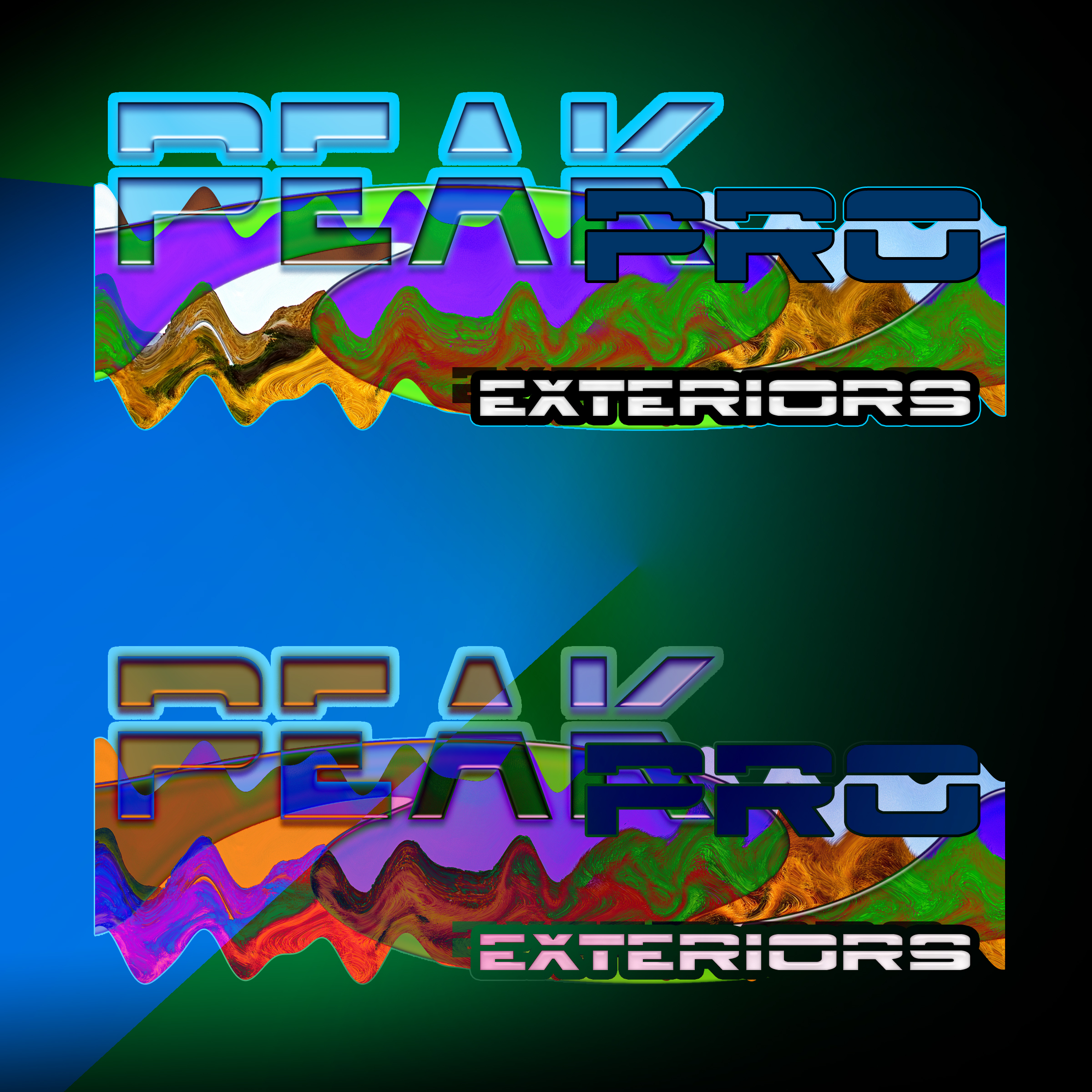 Logo Design by MITUCA ANDREI - Entry No. 44 in the Logo Design Contest Captivating Logo Design for Peakpro Exteriors Inc..