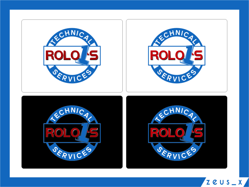 Logo Design by RasYa Muhammad Athaya - Entry No. 23 in the Logo Design Contest Inspiring Logo Design for Rolo1's Technical Services.