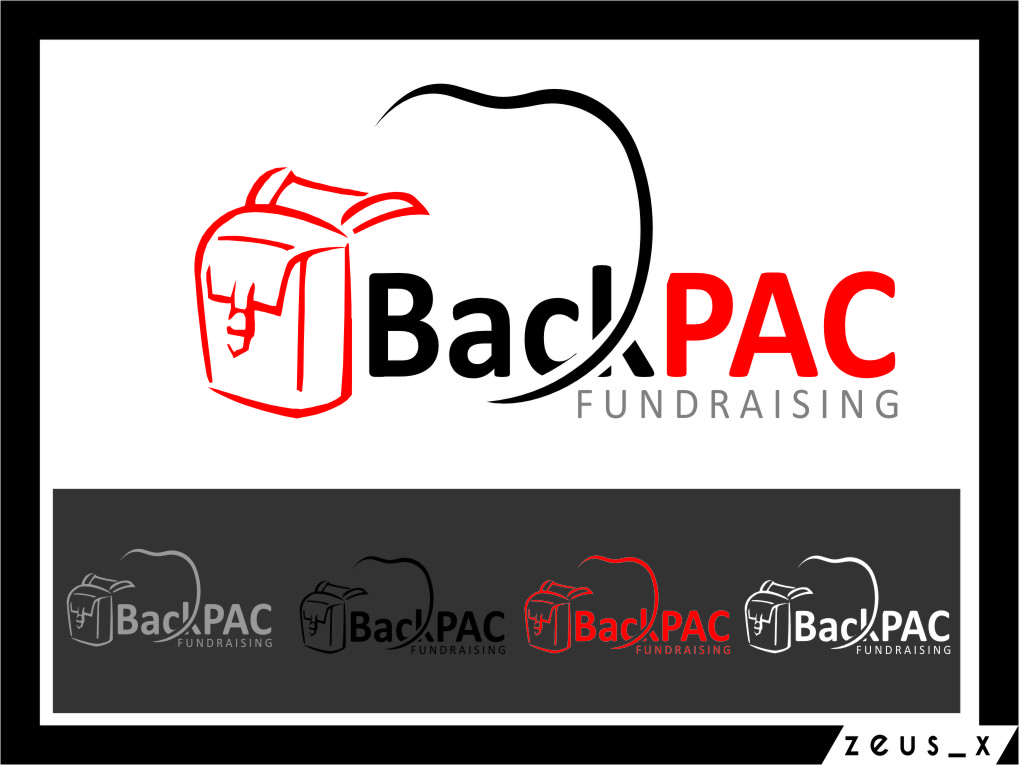 Logo Design by RasYa Muhammad Athaya - Entry No. 25 in the Logo Design Contest Imaginative Logo Design for BackPAC Fundraising.