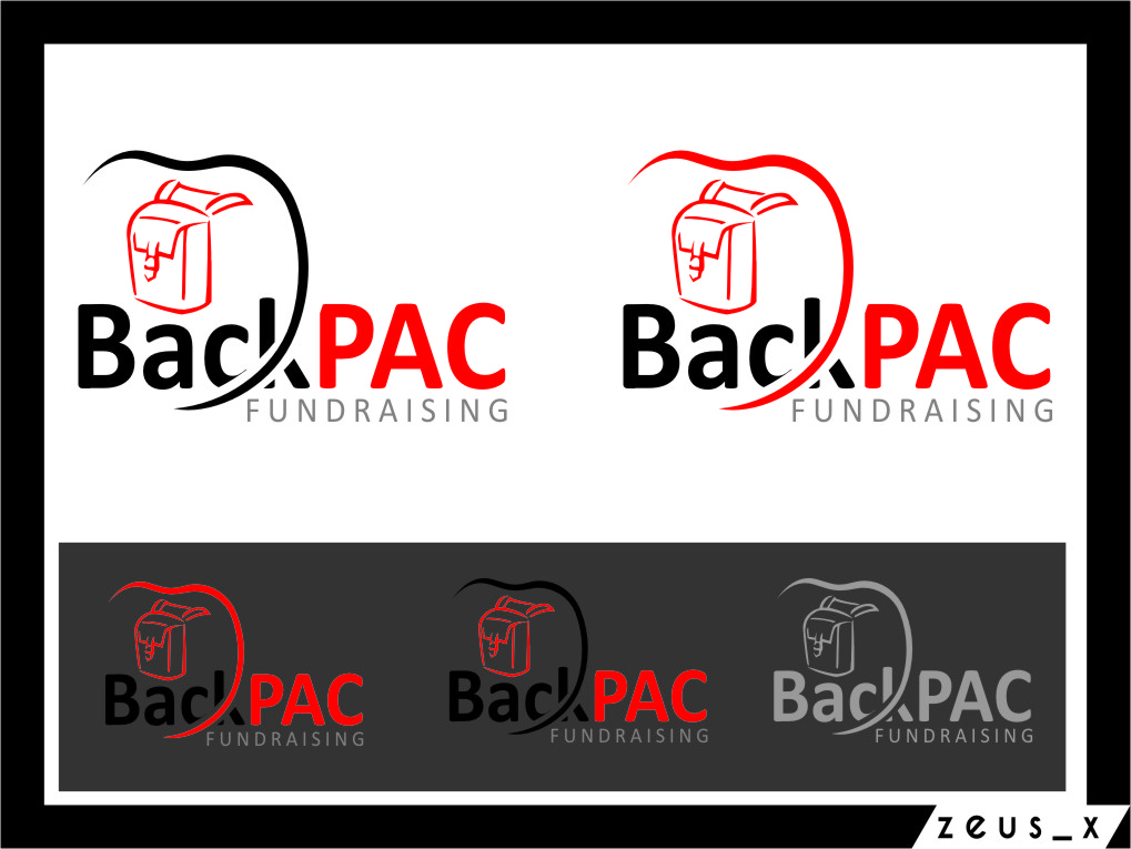 Logo Design by RasYa Muhammad Athaya - Entry No. 27 in the Logo Design Contest Imaginative Logo Design for BackPAC Fundraising.
