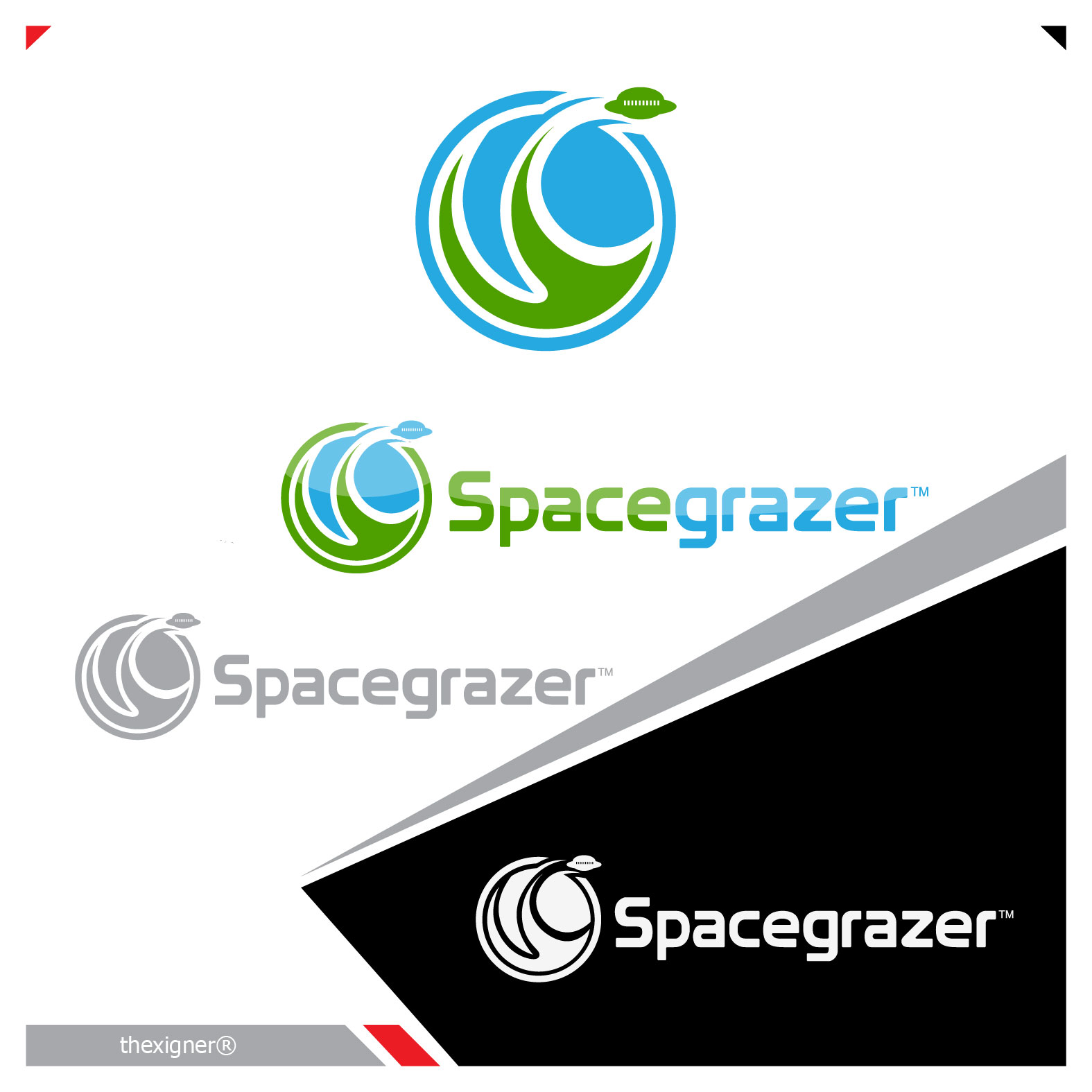Logo Design by lagalag - Entry No. 148 in the Logo Design Contest Fun Logo Design for Spacegrazer.