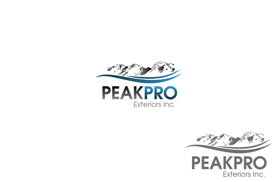 Logo Design by Private User - Entry No. 56 in the Logo Design Contest Captivating Logo Design for Peakpro Exteriors Inc..