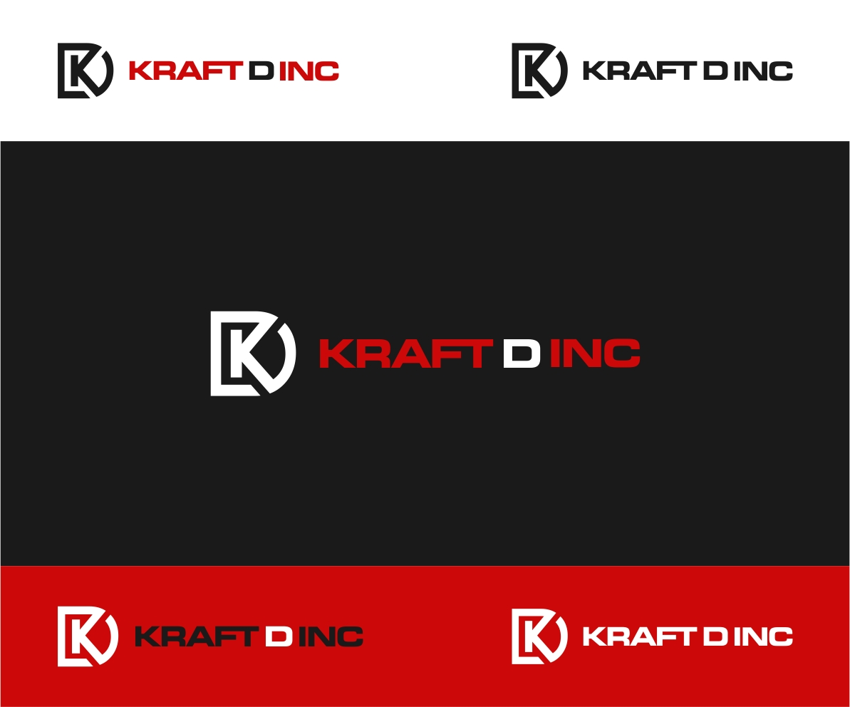Logo Design by haidu - Entry No. 33 in the Logo Design Contest Unique Logo Design Wanted for Kraft D Inc.