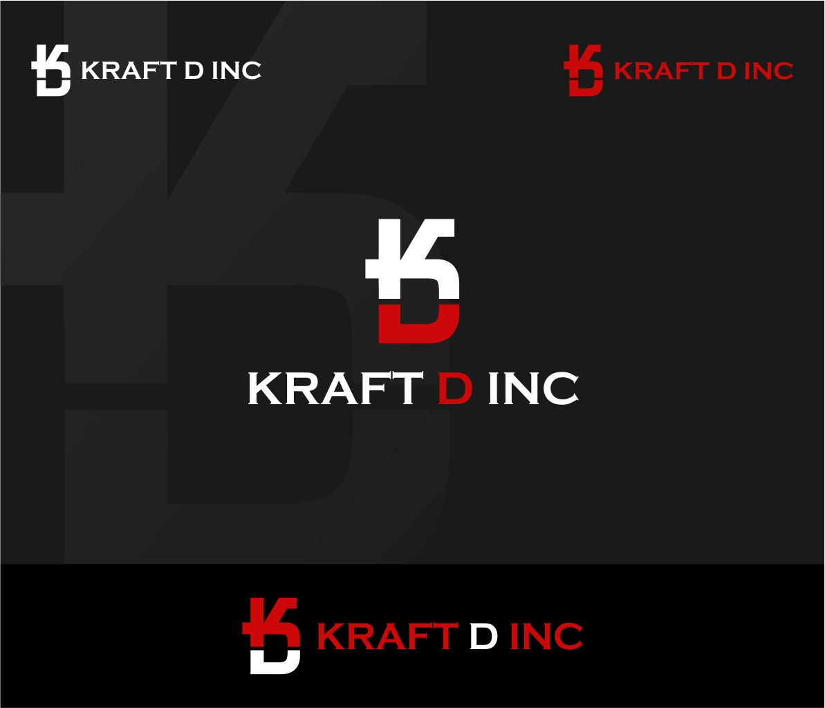Logo Design by haidu - Entry No. 36 in the Logo Design Contest Unique Logo Design Wanted for Kraft D Inc.