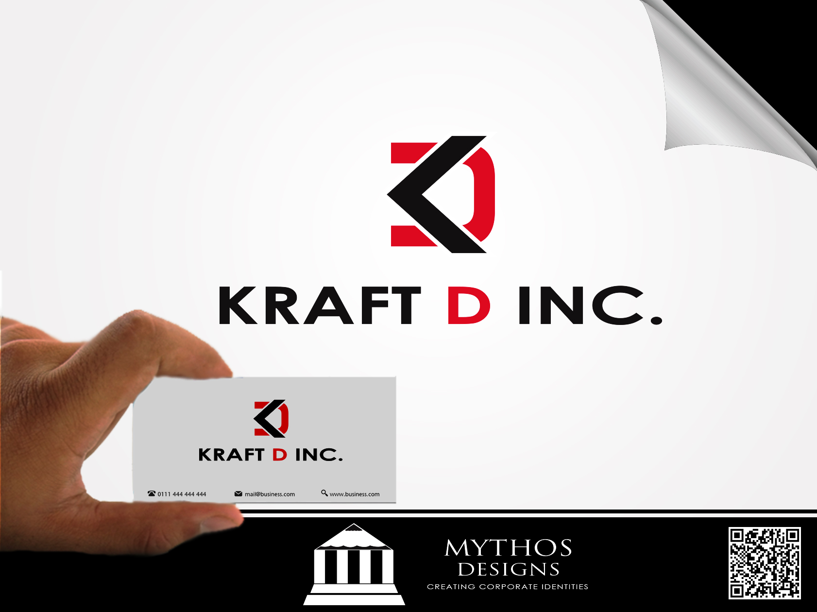 Logo Design by Mythos Designs - Entry No. 38 in the Logo Design Contest Unique Logo Design Wanted for Kraft D Inc.
