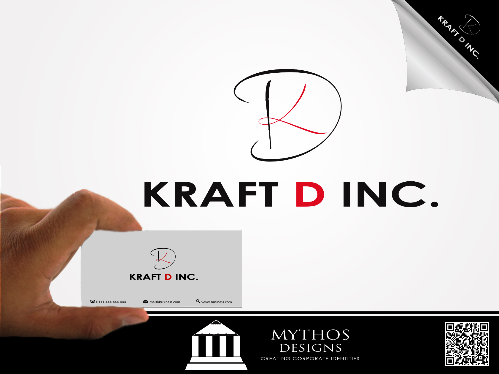 Logo Design by Mythos Designs - Entry No. 39 in the Logo Design Contest Unique Logo Design Wanted for Kraft D Inc.