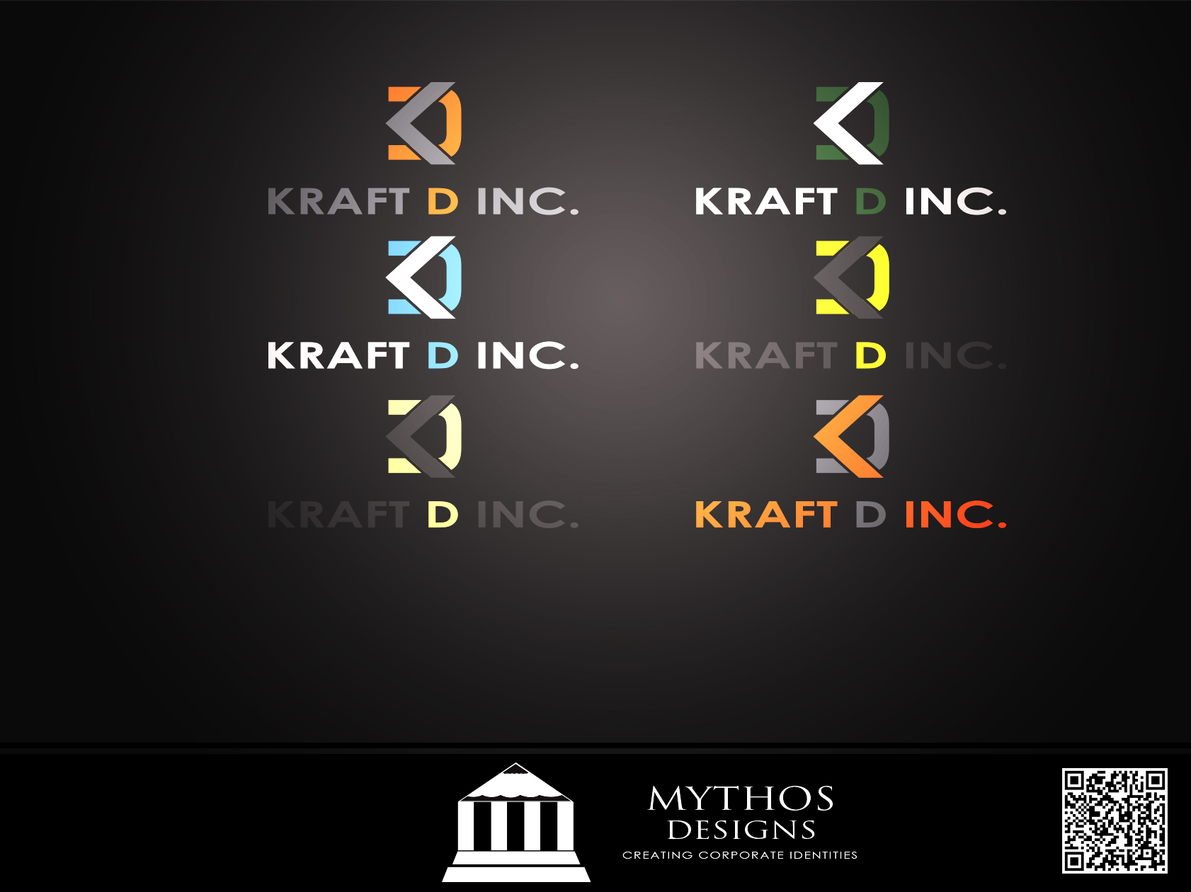 Logo Design by Mythos Designs - Entry No. 45 in the Logo Design Contest Unique Logo Design Wanted for Kraft D Inc.
