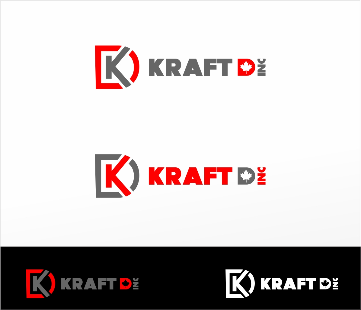 Logo Design by haidu - Entry No. 50 in the Logo Design Contest Unique Logo Design Wanted for Kraft D Inc.