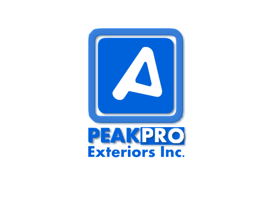 Logo Design by Ismail Adhi Wibowo - Entry No. 62 in the Logo Design Contest Captivating Logo Design for Peakpro Exteriors Inc..