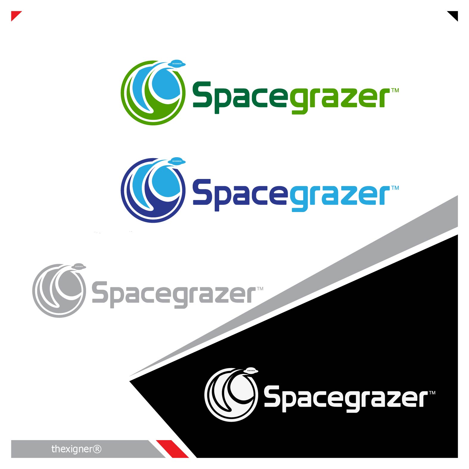 Logo Design by lagalag - Entry No. 154 in the Logo Design Contest Fun Logo Design for Spacegrazer.