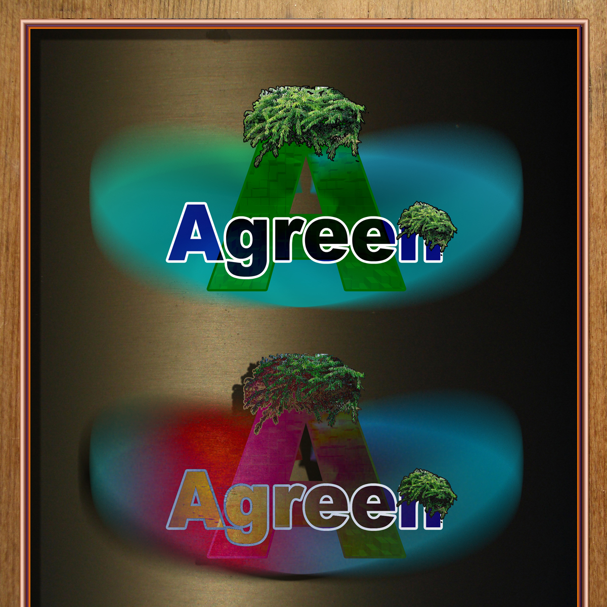 Logo Design by MITUCA ANDREI - Entry No. 9 in the Logo Design Contest Inspiring Logo Design for Agreen.