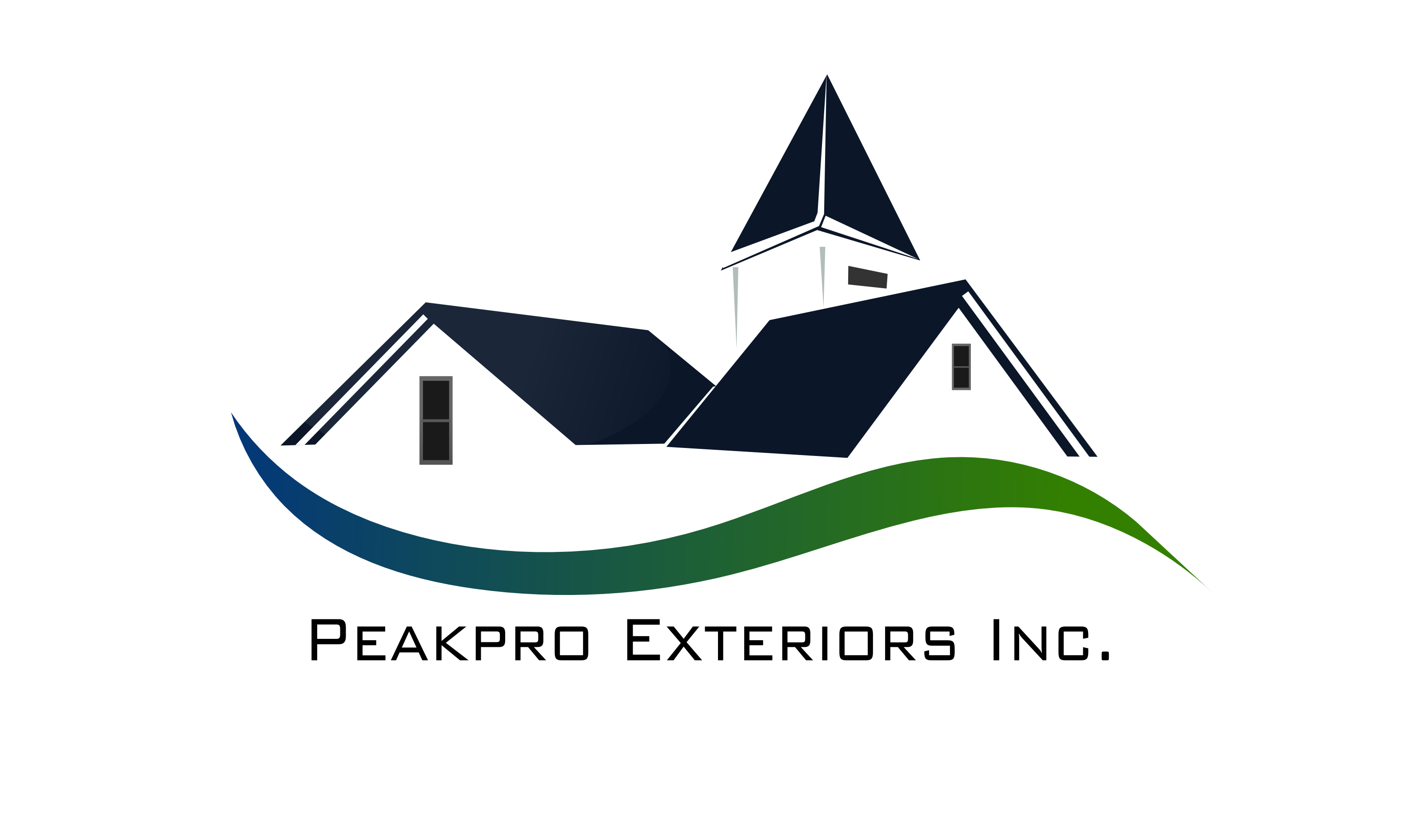 Logo Design by Arindam Khanda - Entry No. 65 in the Logo Design Contest Captivating Logo Design for Peakpro Exteriors Inc..