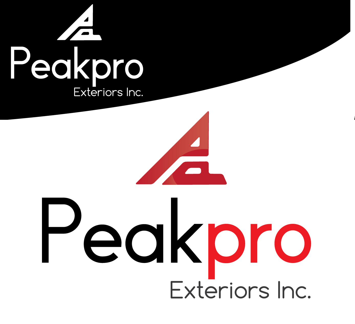 Logo Design by 354studio - Entry No. 68 in the Logo Design Contest Captivating Logo Design for Peakpro Exteriors Inc..