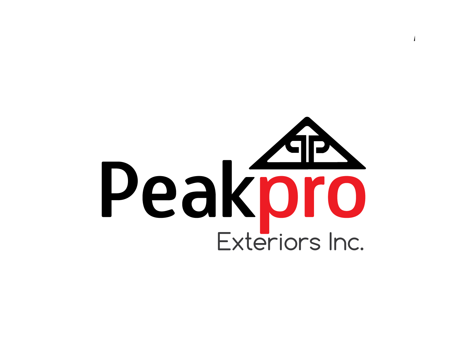 Logo Design by 354studio - Entry No. 69 in the Logo Design Contest Captivating Logo Design for Peakpro Exteriors Inc..