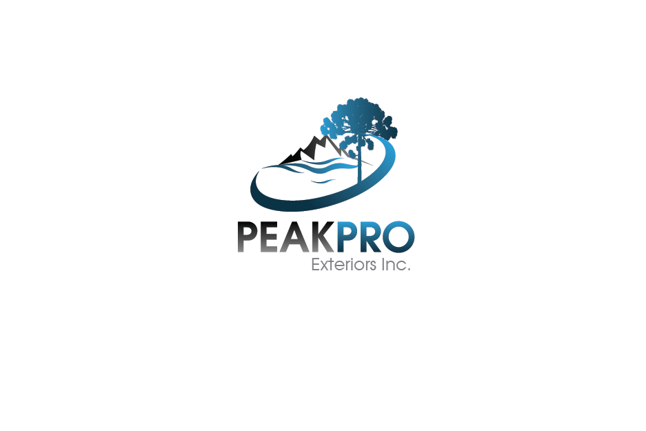Logo Design by Private User - Entry No. 75 in the Logo Design Contest Captivating Logo Design for Peakpro Exteriors Inc..