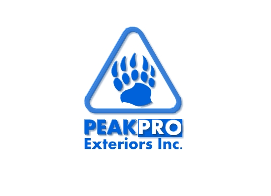 Logo Design by Ismail Adhi Wibowo - Entry No. 76 in the Logo Design Contest Captivating Logo Design for Peakpro Exteriors Inc..