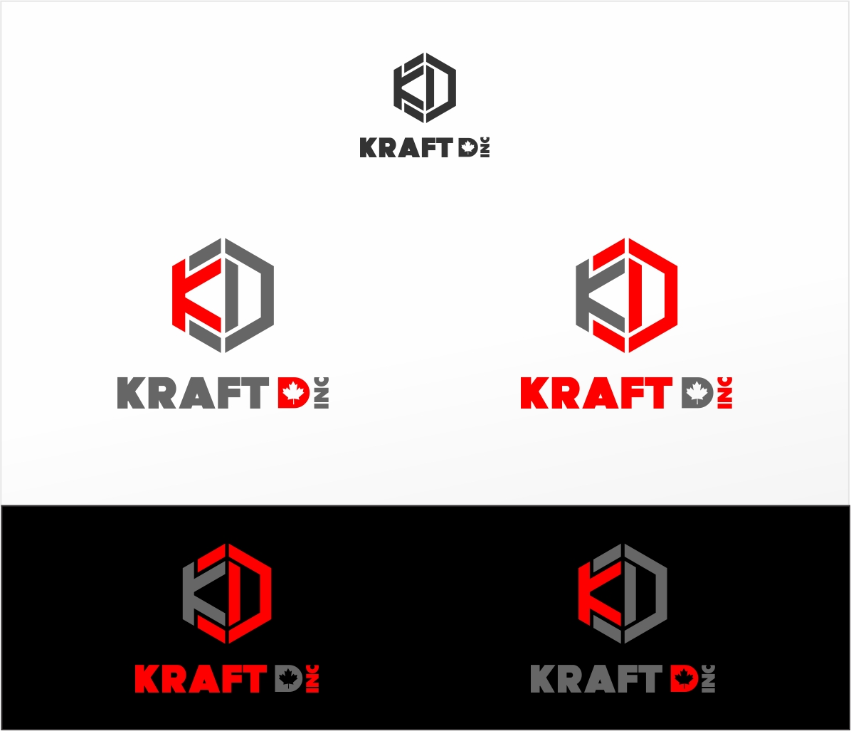 Logo Design by haidu - Entry No. 93 in the Logo Design Contest Unique Logo Design Wanted for Kraft D Inc.