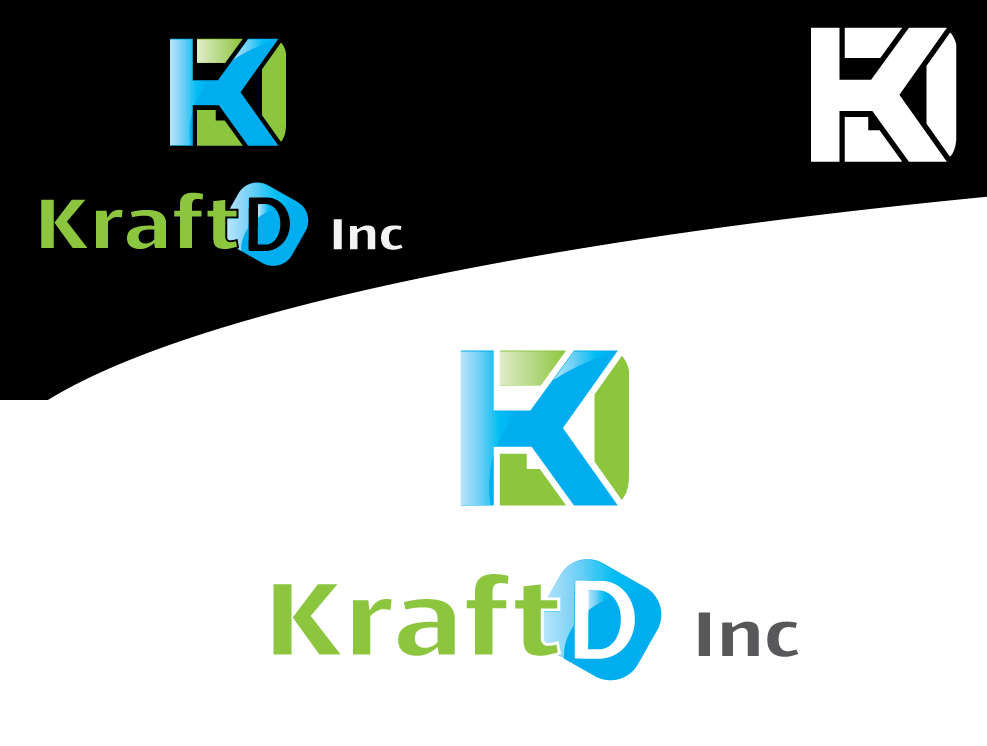 Logo Design by 354studio - Entry No. 104 in the Logo Design Contest Unique Logo Design Wanted for Kraft D Inc.
