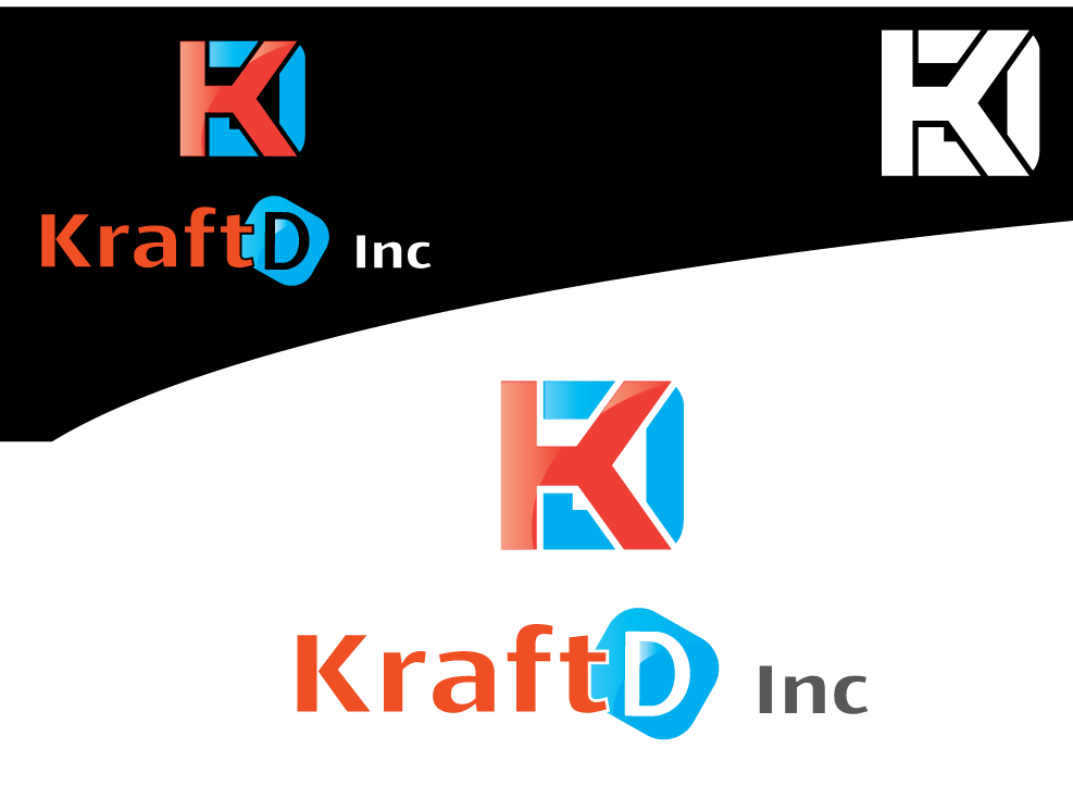 Logo Design by 354studio - Entry No. 105 in the Logo Design Contest Unique Logo Design Wanted for Kraft D Inc.
