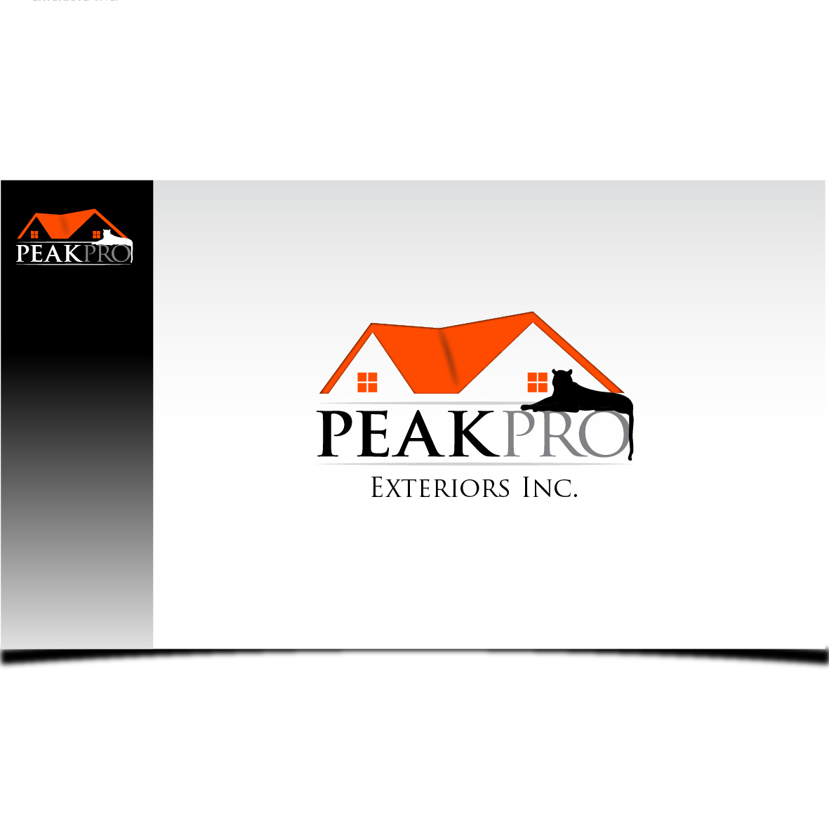 Logo Design by Robert Engi - Entry No. 78 in the Logo Design Contest Captivating Logo Design for Peakpro Exteriors Inc..