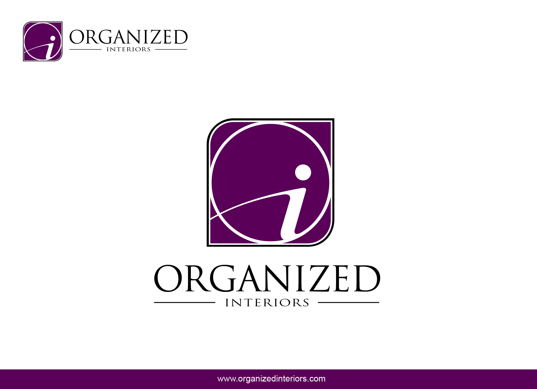 Logo Design by omARTist - Entry No. 165 in the Logo Design Contest Imaginative Logo Design for Organized Interiors.