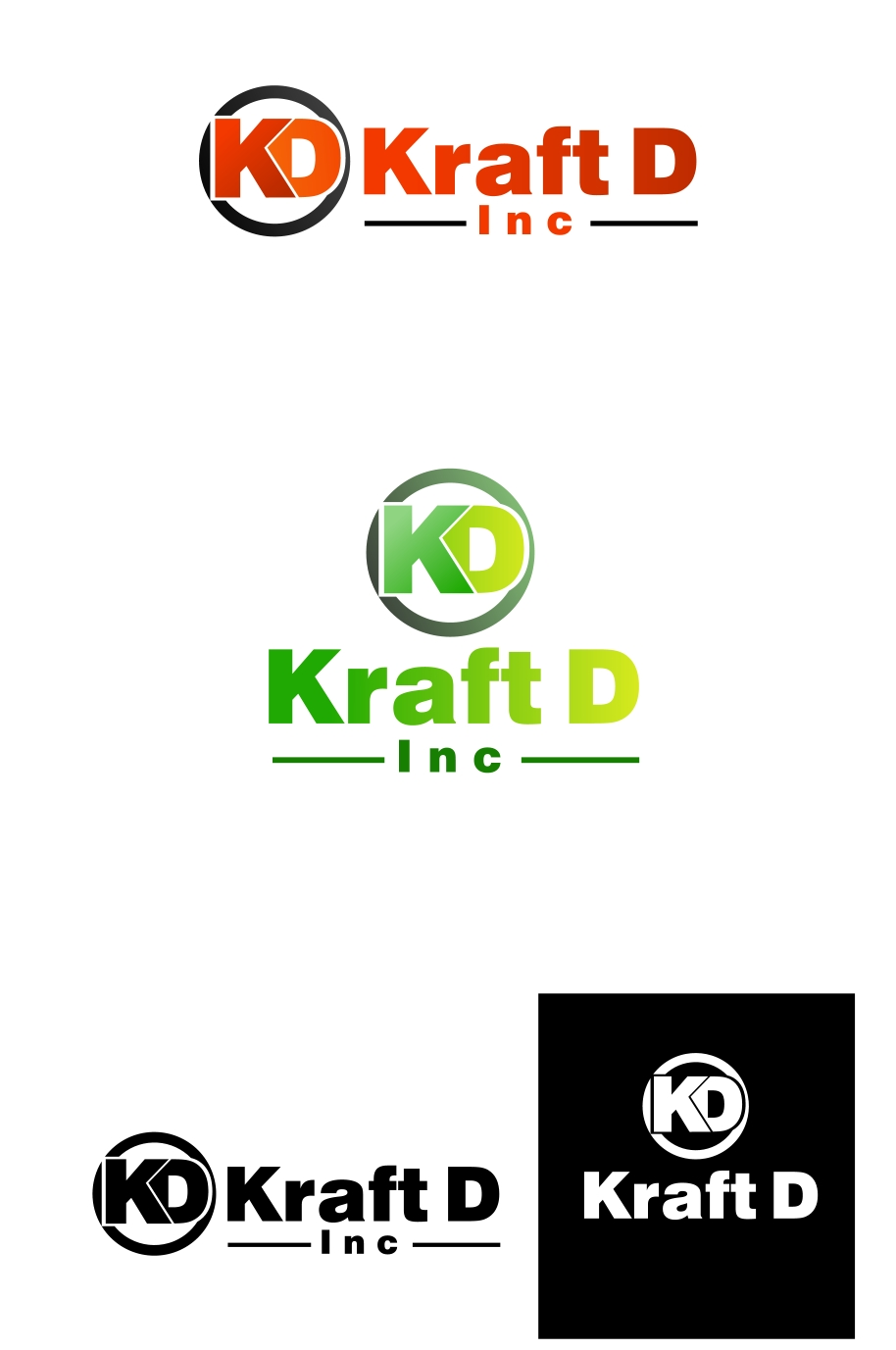 Logo Design by Private User - Entry No. 117 in the Logo Design Contest Unique Logo Design Wanted for Kraft D Inc.