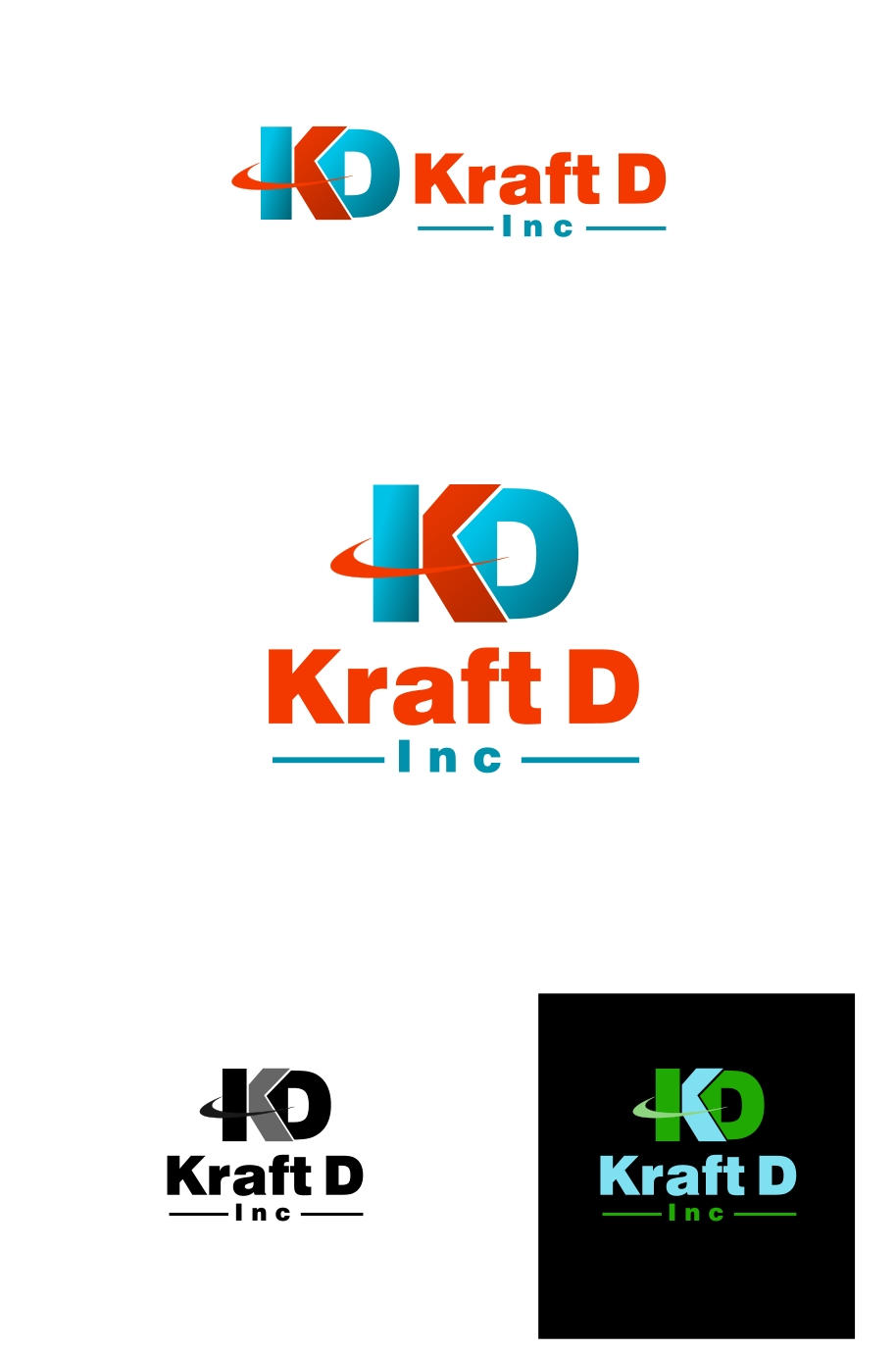 Logo Design by Private User - Entry No. 118 in the Logo Design Contest Unique Logo Design Wanted for Kraft D Inc.