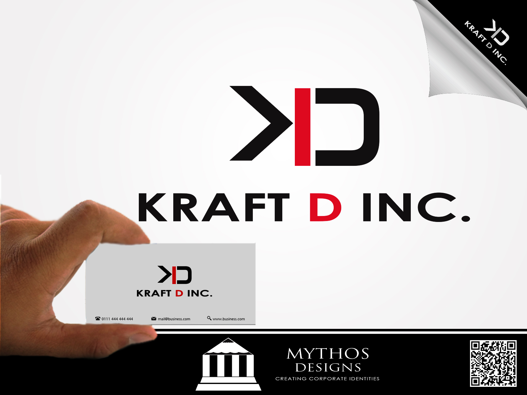 Logo Design by Mythos Designs - Entry No. 119 in the Logo Design Contest Unique Logo Design Wanted for Kraft D Inc.