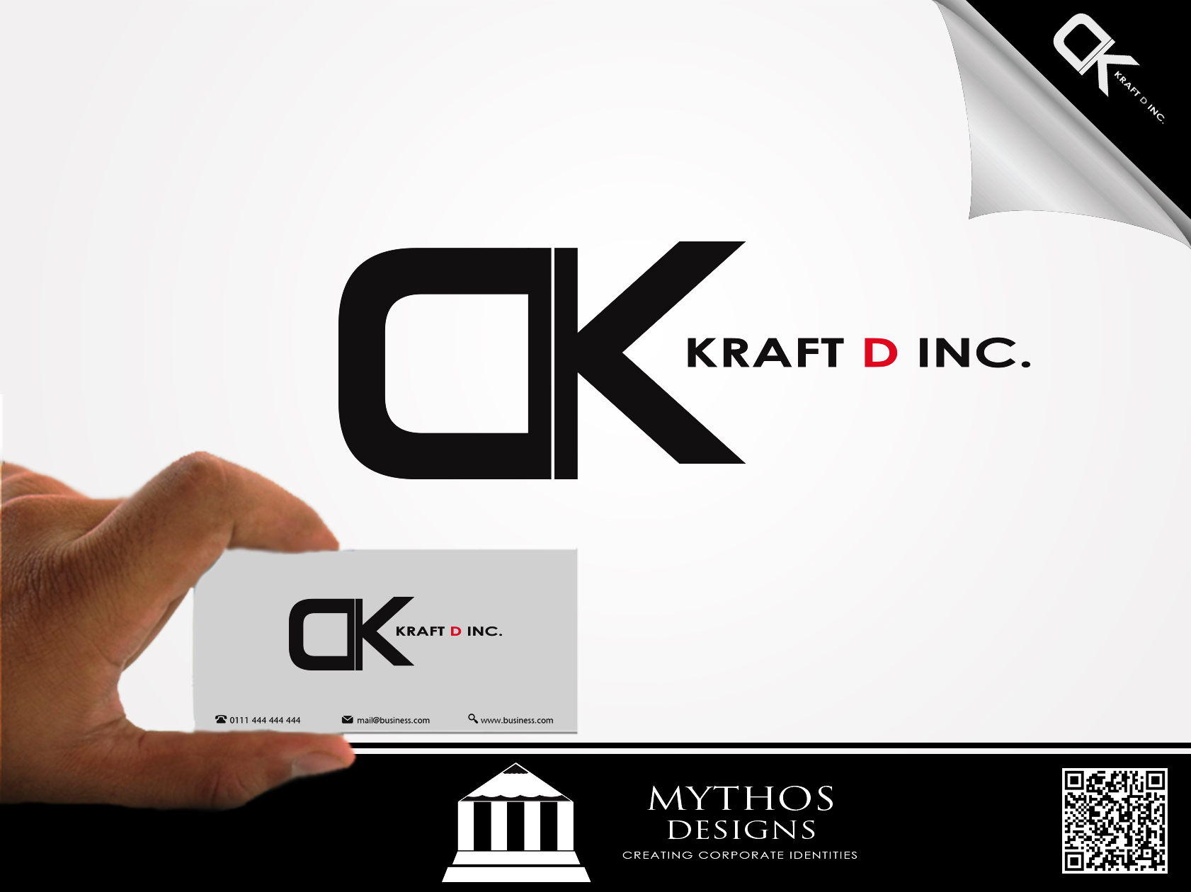 Logo Design by Mythos Designs - Entry No. 128 in the Logo Design Contest Unique Logo Design Wanted for Kraft D Inc.