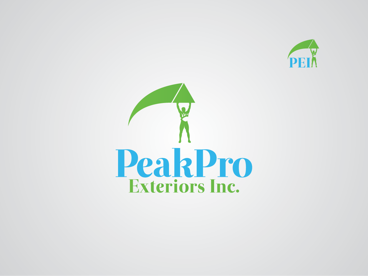 Logo Design by Private User - Entry No. 84 in the Logo Design Contest Captivating Logo Design for Peakpro Exteriors Inc..