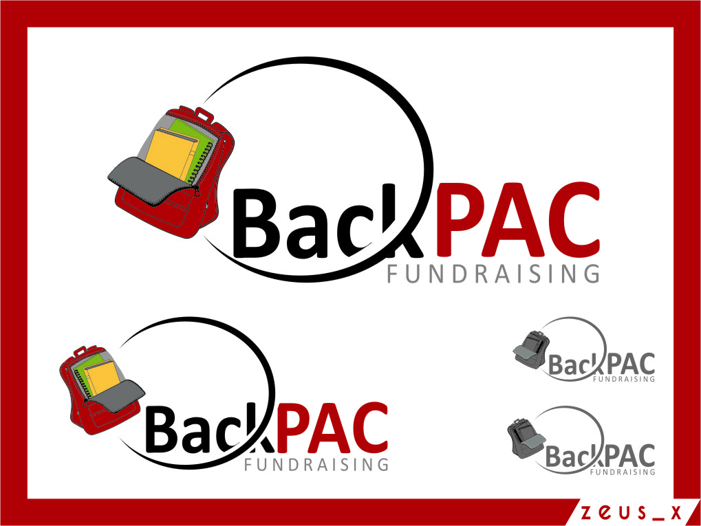 Logo Design by RasYa Muhammad Athaya - Entry No. 37 in the Logo Design Contest Imaginative Logo Design for BackPAC Fundraising.