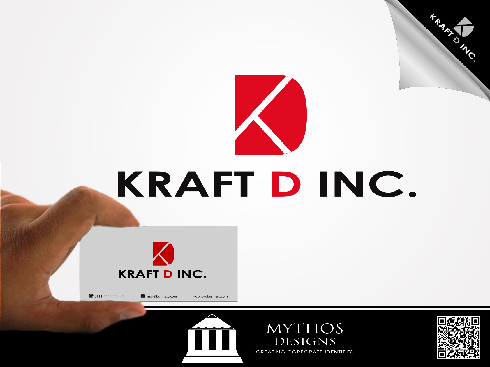 Logo Design by Mythos Designs - Entry No. 129 in the Logo Design Contest Unique Logo Design Wanted for Kraft D Inc.